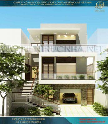 Thiết kế biệt thự tại Quảng Ninh - Biệt thự hiện đại 3 tầng