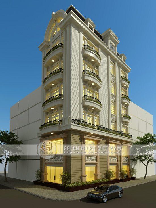 Thiết kế nhà phố với kiến trúc cổ điển: cô Oanh-Bắc Giang