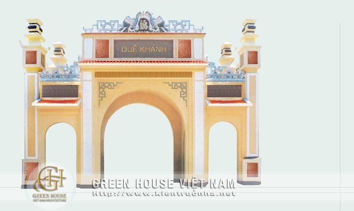 Thiết kế cổng làng Duệ Khánh