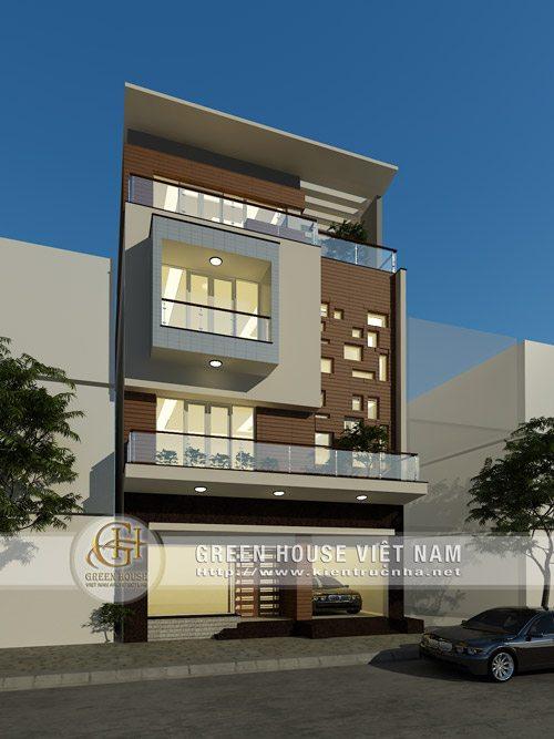 Thiết kế nhà phố mặt tiền 9m