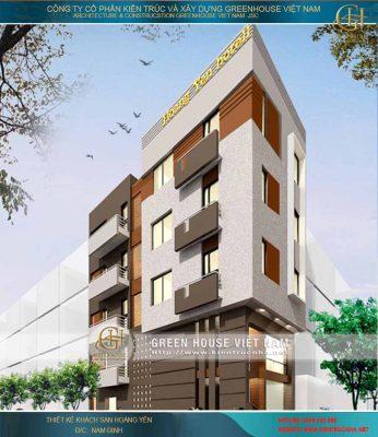Thiết kế khách sạn tại Nam Định - Khách sạn Hoàng Yến