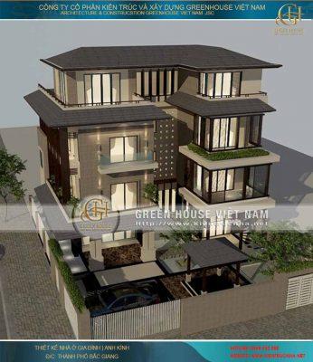 Thiết kế biệt thự vườn - Biệt thự 4 tầng hiện đại