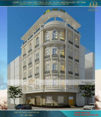 Thiết kế khách sạn cổ điển tại Bắc Ninh
