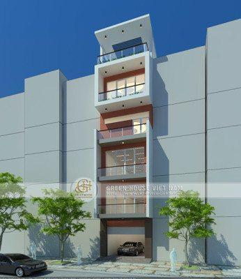 Phối cảnh Thiết kế nhà phố kết hợp kinh doanh và làm văn phòng cho thuê