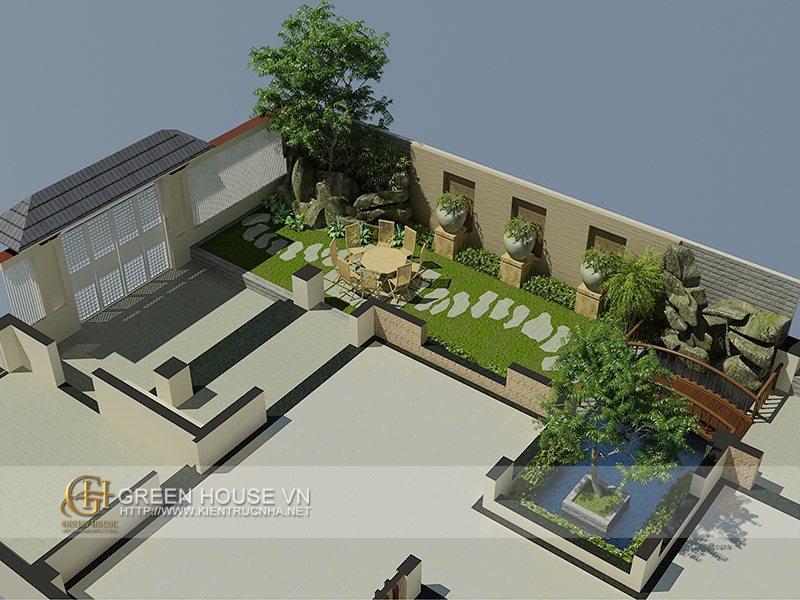 Thiết kế biệt thự sân vườn đẹp tại Quảng Ninh: anh Long-Móng Cái