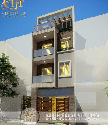 Thiết kế nhà phố 4 tầng, diện tích 85m2