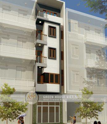 thiết kế nhà 5 tầng, 4x12.5m2