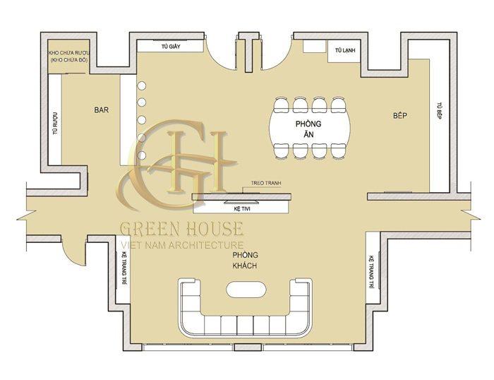 Mặt bằng căn hộ R5
