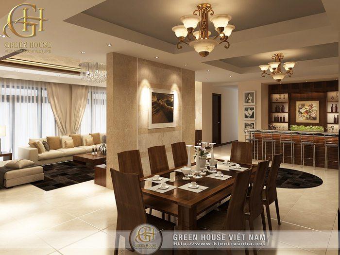 Phòng ăn căn hộ R5