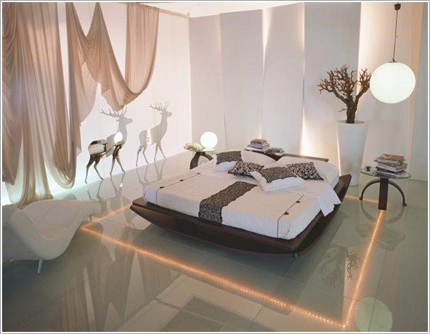 10 ý tưởng thiết kế phòng ngủ với ánh sáng gây ấn tượng mạnh