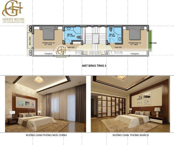 Thiết kế nhà phố 5 tầng theo phong cách tân cổ điển
