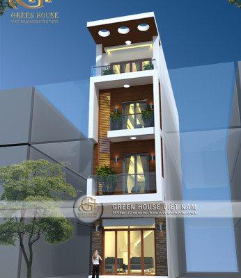 Thiết kế nhà lô phố 4 tầng tại TP.Bắc Giang