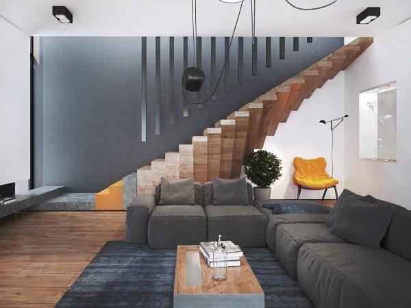 3878-Đẹp tuyệt với ngôi nhà có thiết kế cầu thang siêu độc đáo