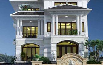 Thiết kế biệt thự tân cổ điển 4 tầng - Biệt thự anh Chính