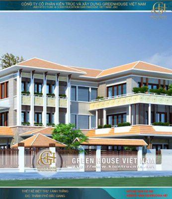 Thiết kế biệt thự 3 tầng phong cách Á Đông. Chủ đầu tư: anh Thắng