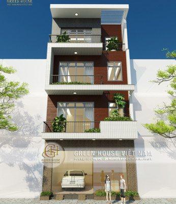 mẫu nhà phố 4 tầng diện tích 108m2