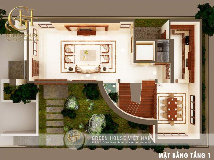 Thiết kế biệt thự cổ điển tại Hải Phòng - nhà Chị Oanh