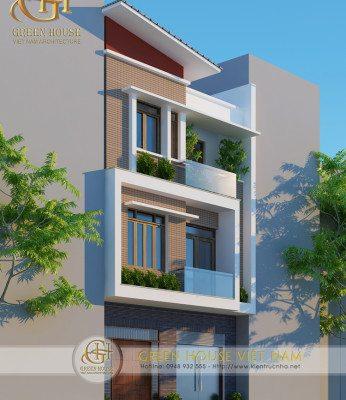 Thiết kế kiến trúc nhà phố 3 tầng - nhà chú phong, Bắc Giang