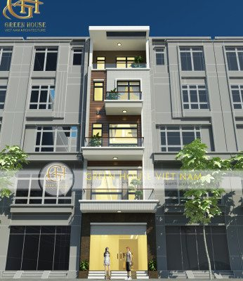 thiết kế nhà phố 6 tầng tại bắc giang