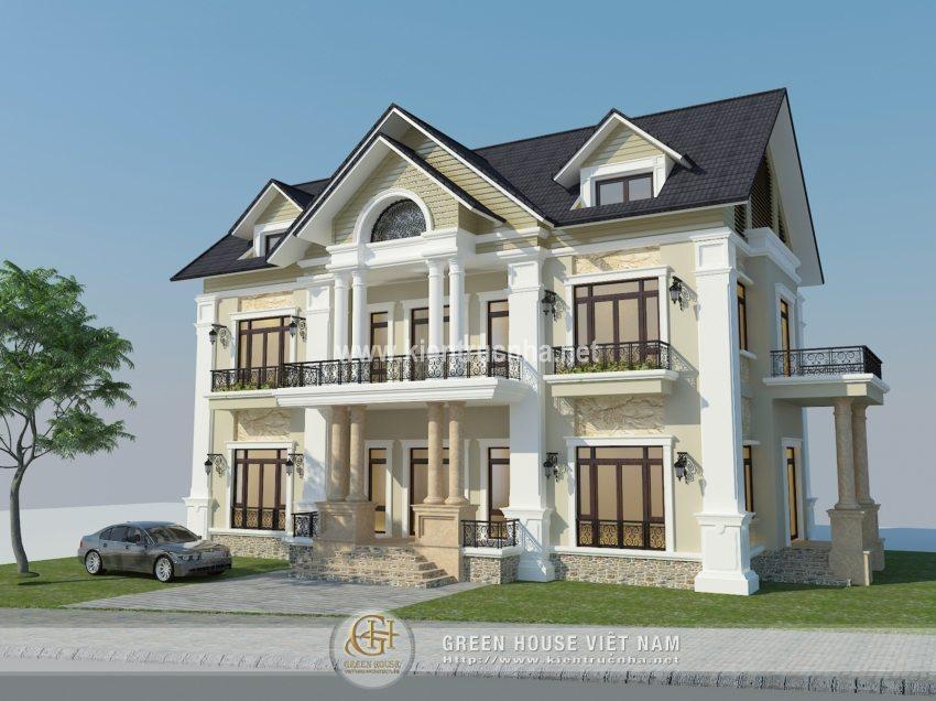 Mẫu biệt thự đẹp phong cách đương đại tại Nam Định - Anh Trung