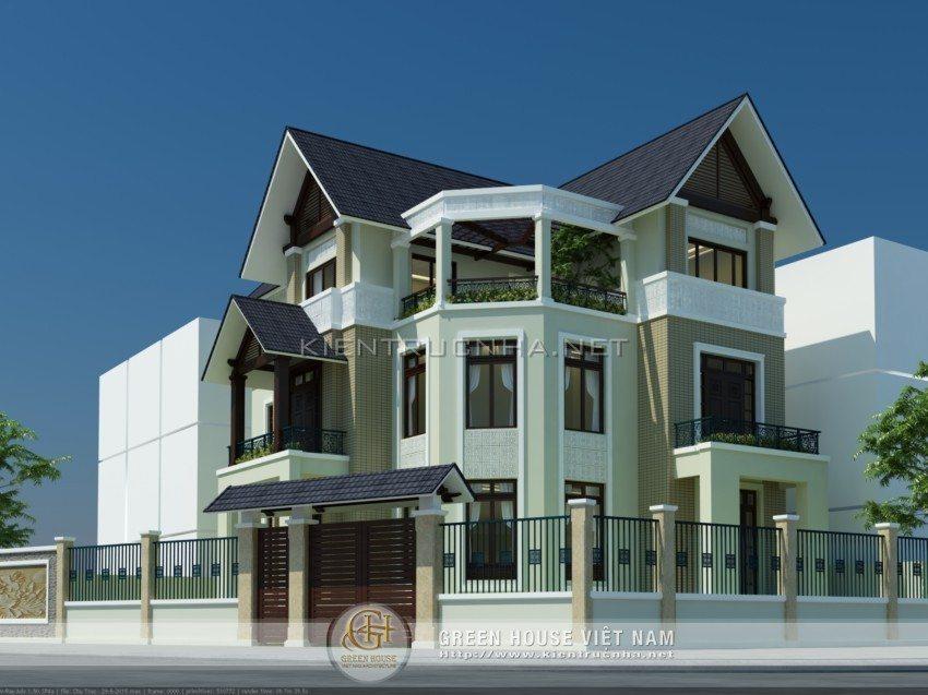 Mẫu biệt thự 3 tầng tại Hải Dương - Anh Tuấn