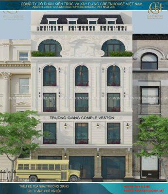 Thiết kế nhà tại Hà Nội - Nhà phố tân cổ điển - Tòa nhà Trường Giang