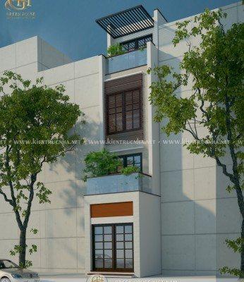 phối cảnh thiết kế nhà phố 4 tầng