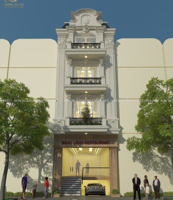 Thiết kế nhà phố kết hợp kinh doanh cửa hàng tại Âu Cơ, Hà Nội