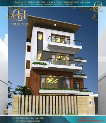 Thiết kế biệt thự 3 tầng hiện đại - nhà anh Thủy