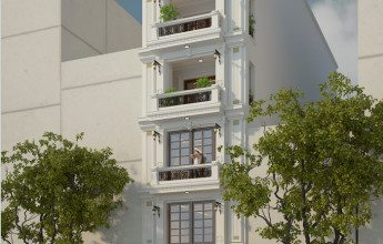 thiết kế nhà 6 tầng 1 tum kết hợp làm kinh doanh
