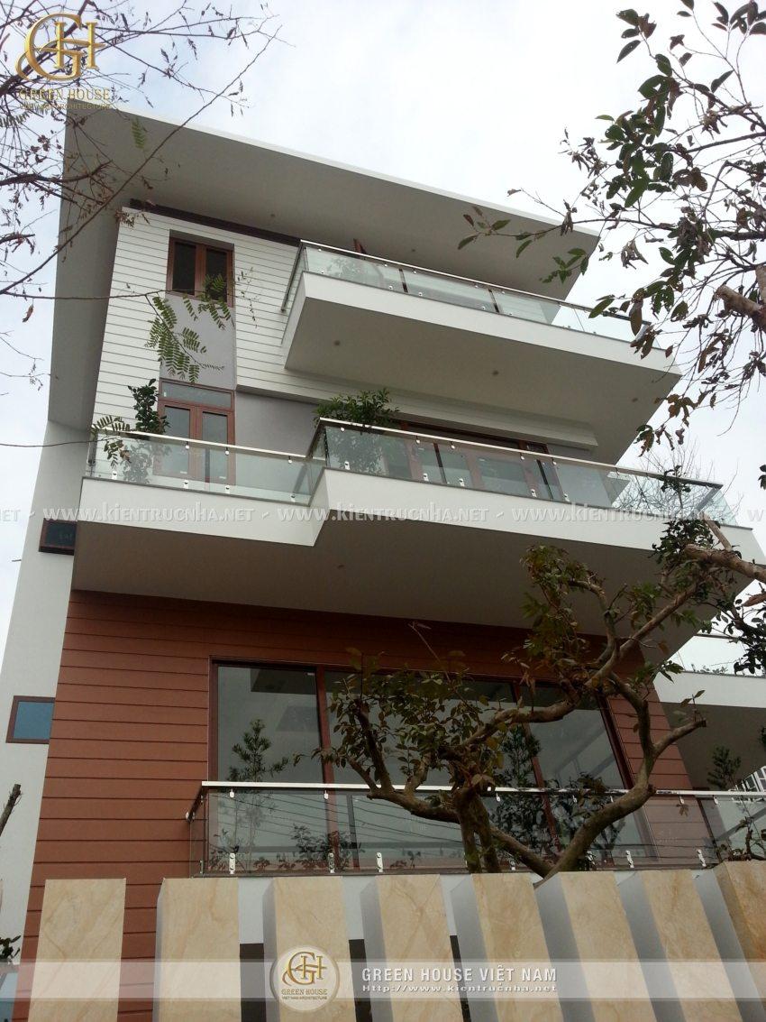 Thiết kế biệt thự 3 tầng, hiện đại - nhà Anh Thủy, Bắc Giang