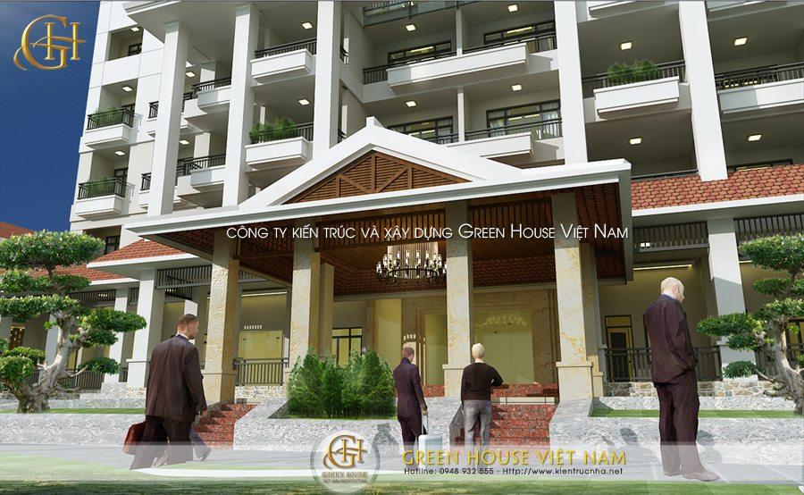 Mẫu Thiết kế khách sạn tại  Thái Nguyên