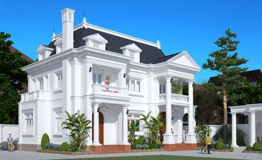 Thiết kế kiến trúc nhà đẹp kiểu Pháp