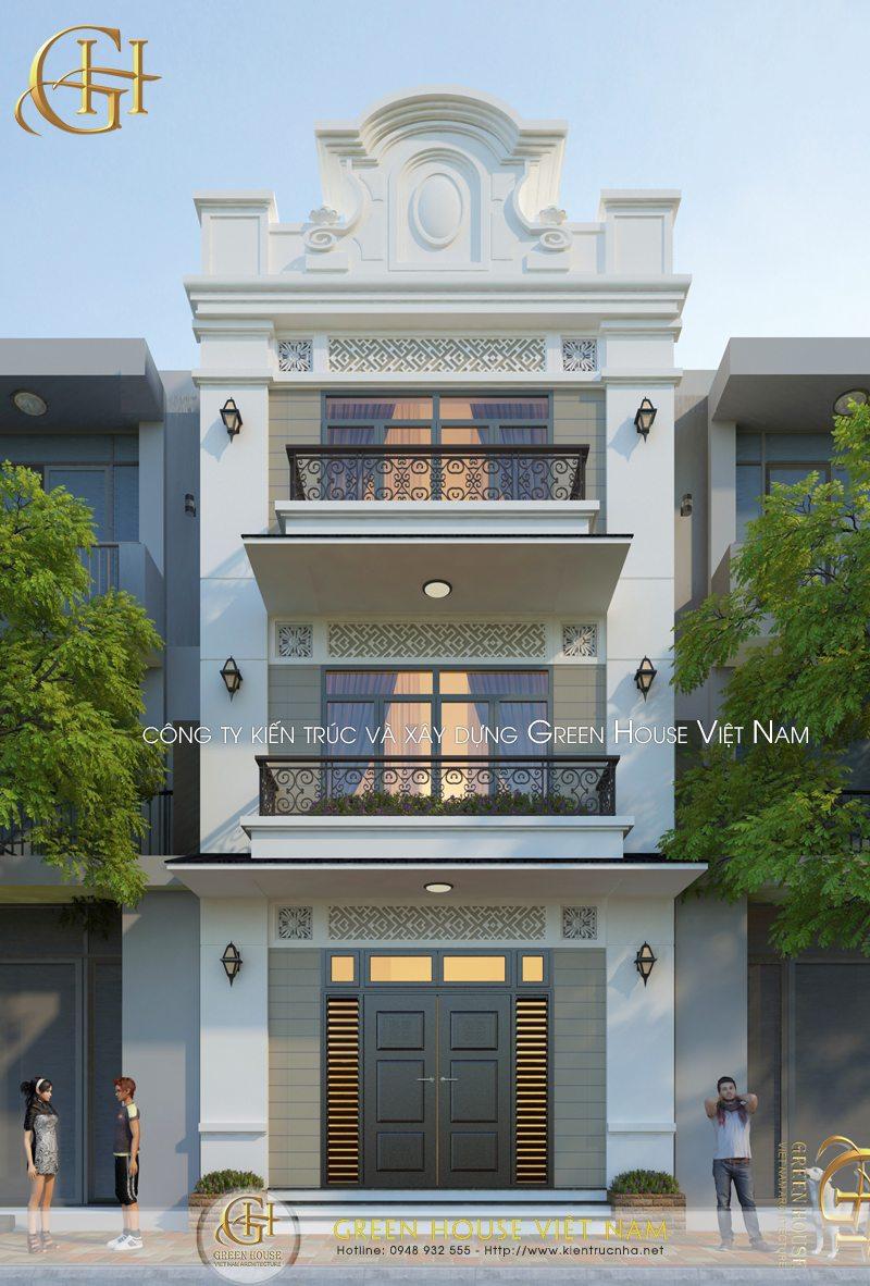 Thiết kế nhà phố 3 tầng - nhà Chị Tâm