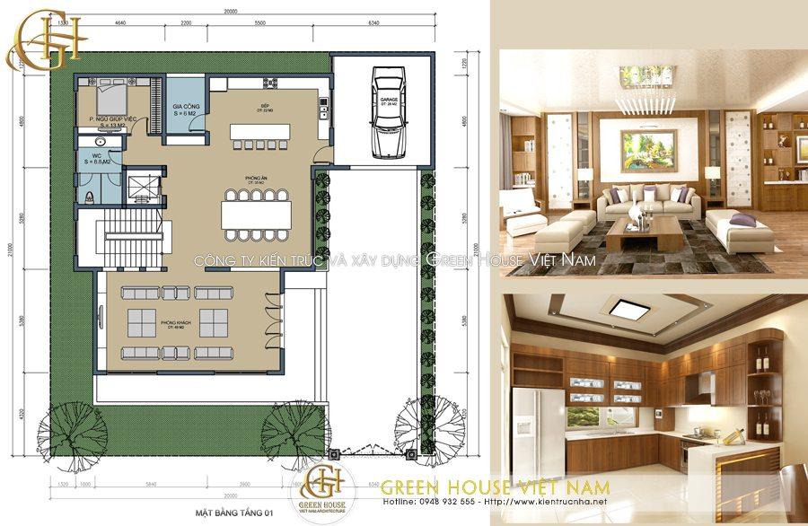Thiết kế biệt thự 3 tầng mái Thái hiện đại: Chị Hà-Bắc Giang