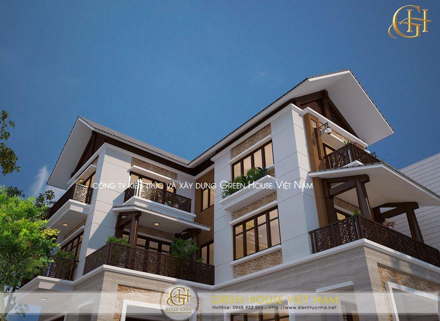 Thiết kế biệt thự 3 tầng hiện đại và sang trọng