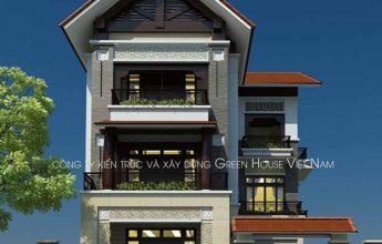 Thiết kế biệt thự hiện đại Á Đông 3 tầng- Biệt thự chú Sơn