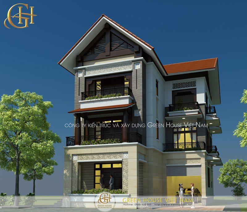 Nhà biệt thự 3 tầng hiện đại tại Bắc Giang