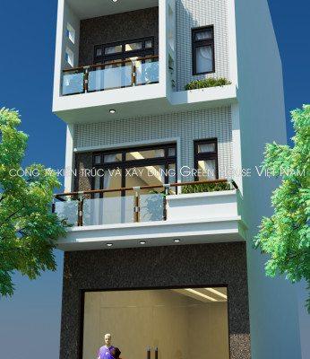 Thiết kế nhà 4 tầng hiện đại