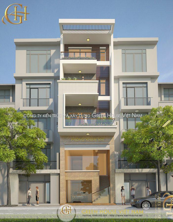 Thiết kế nhà ở kết hợp làm phòng khám tư nhân
