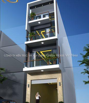 thiết kế nhà ống 4 tầng đẹp