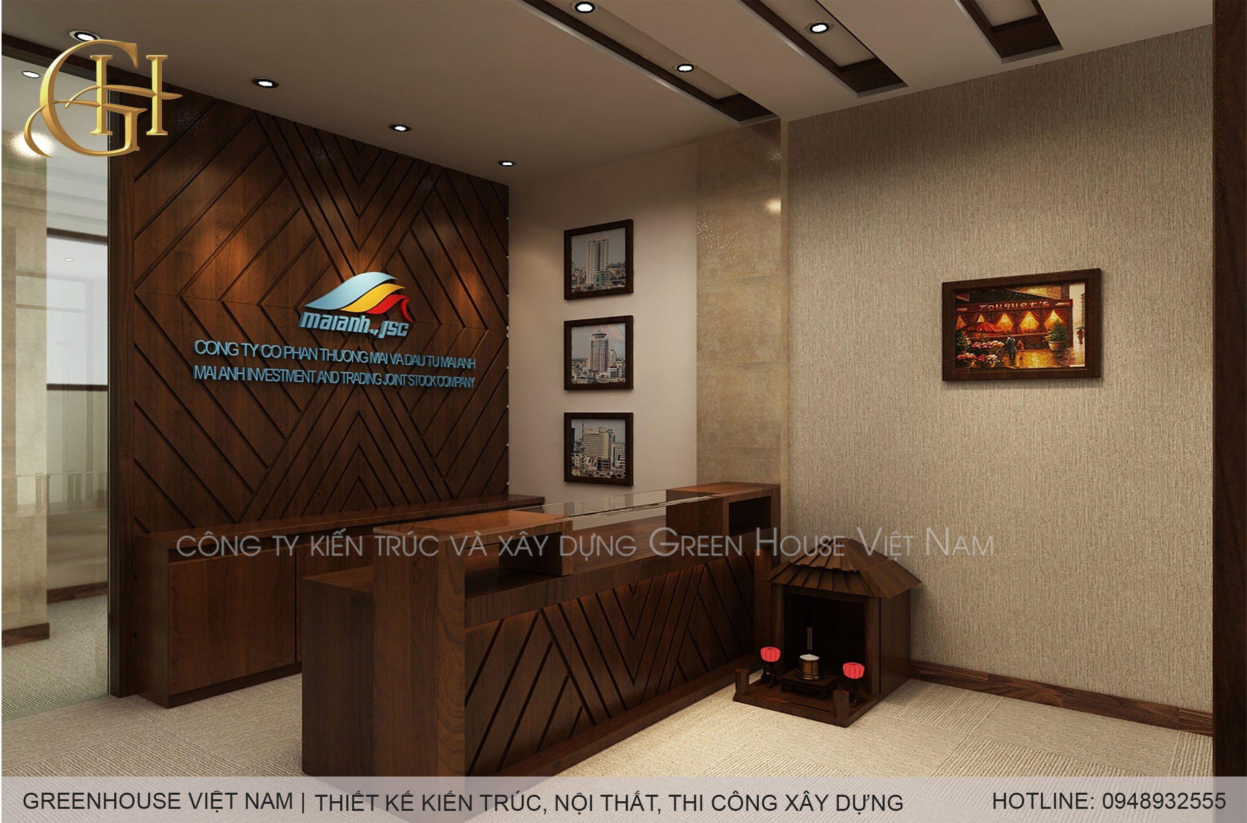 Thiết kế văn phòng công ty cổ phần thương mại và đầu tư Mai Anh
