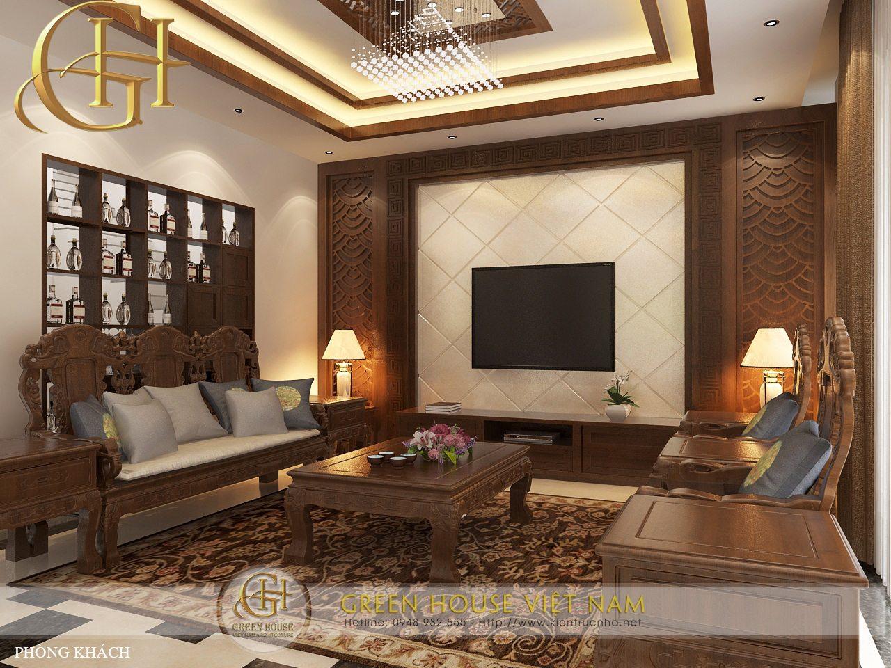 Nét đẹp của phong cách nội thất cổ điển kết hợp tính hiện đại thiết kế bởi Green House Việt Nam