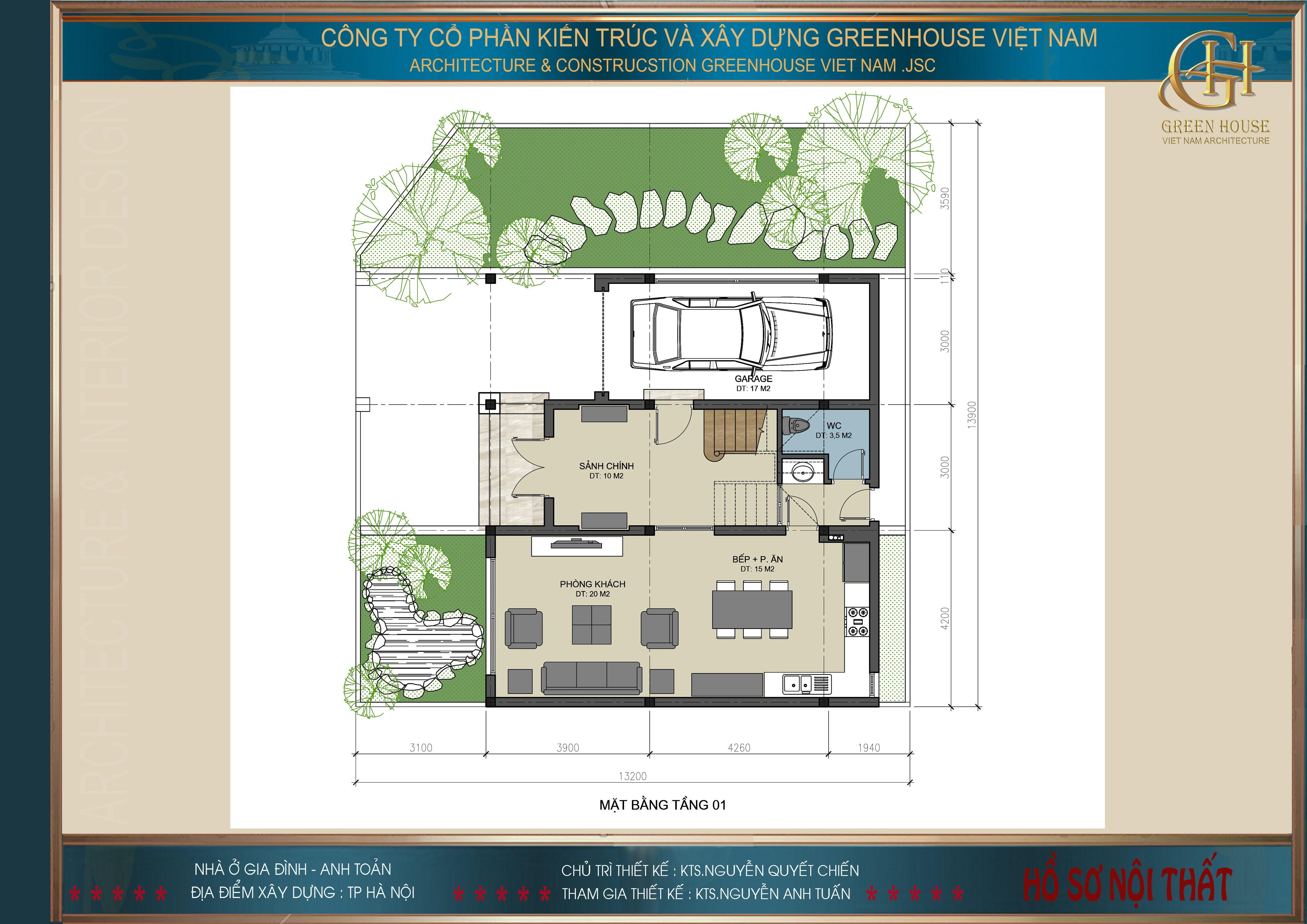 Thiết kế nội thất nhà anh Toản- Thành phố Hà Nội