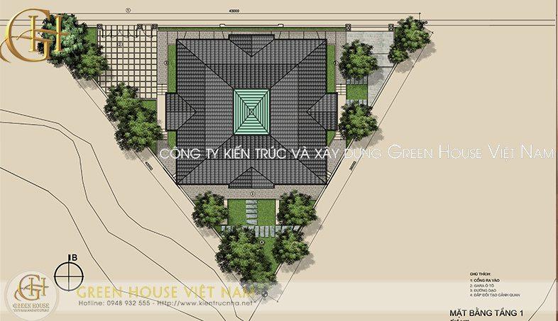 Thiết kế biệt thự nhà anh Hùng- thành phố Bắc Giang