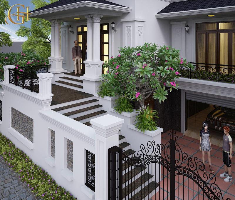 Thiết kế biệt thự phố: Nhà anh Ba- Tp Bắc Giang
