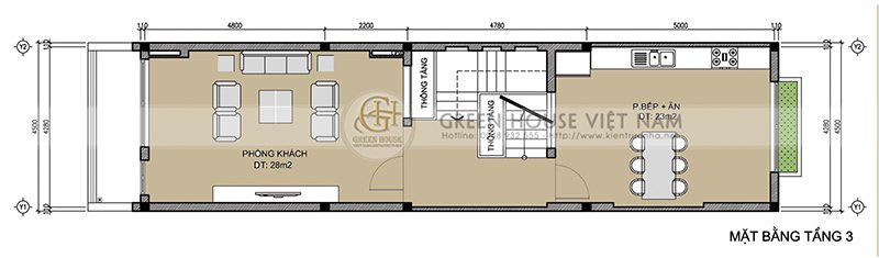 Thiết kế nhà lô phố: gia đình anh Tuấn - Tp Bắc Giang