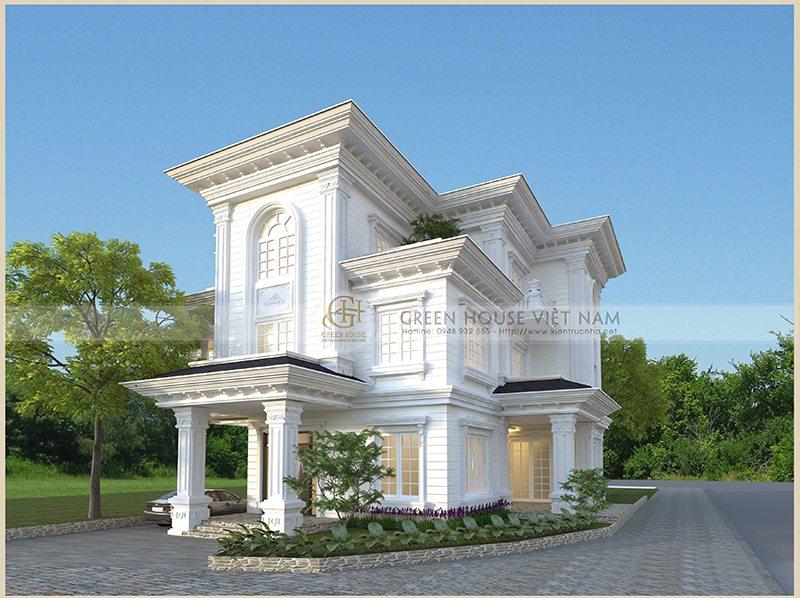 Thiết kế kiến trúc biệt thự :Gia đình anh Thức – Tp Bắc Giang