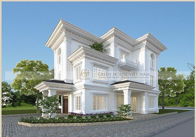 Thiết kế kiến trúc biệt thự :Gia đình anh Thức - Tp Bắc Giang