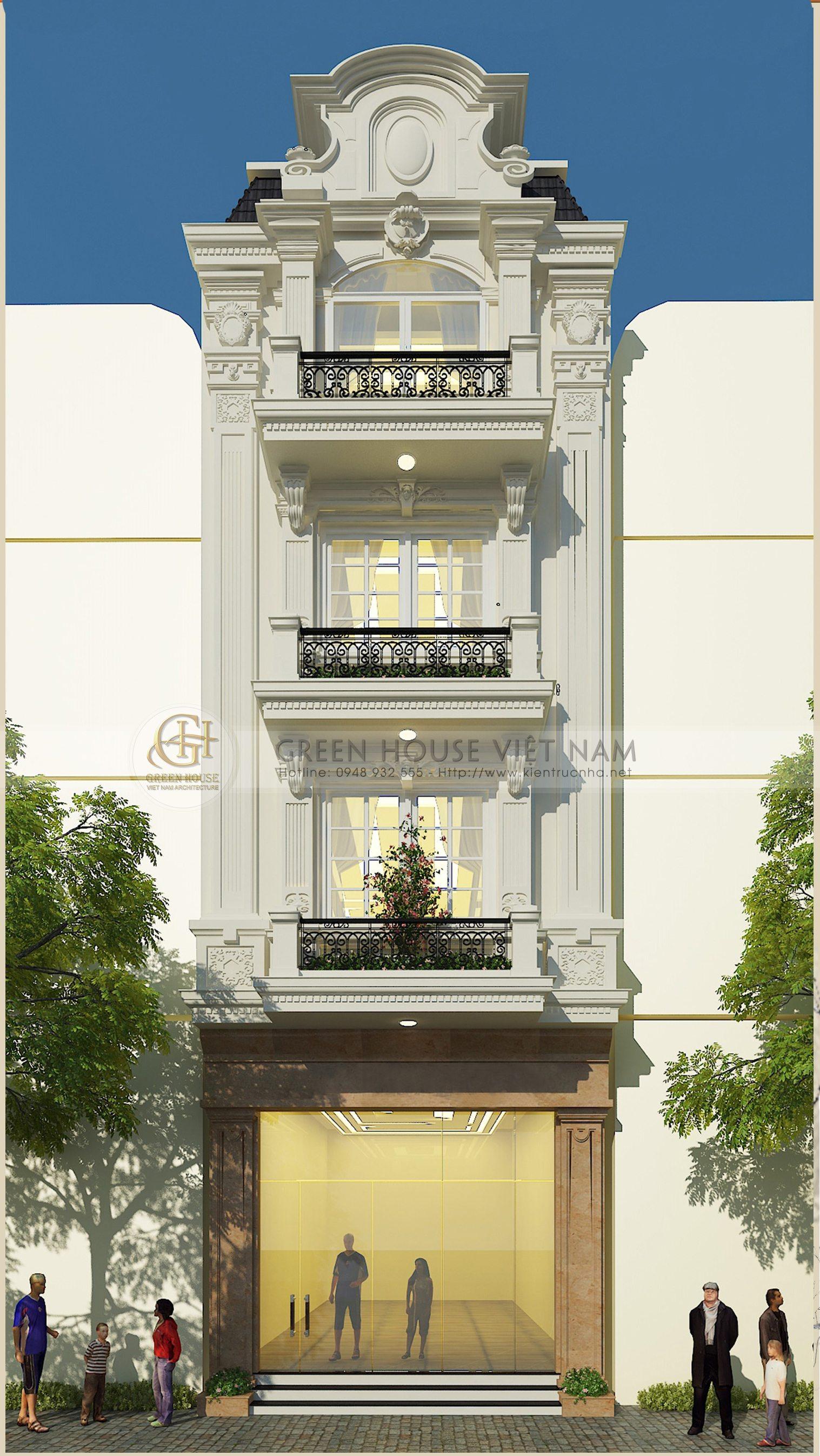 Thiết kế kiến trúc: nhà ở gia đình anh Lượng - Tp Bắc Giang